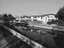 Casas em preto e branco imagens de stock royalty free