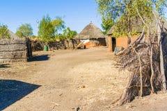 Casas em Rashid, Sudão Fotografia de Stock