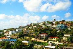 Casas em St Thomas, USVI Imagem de Stock