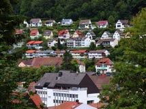 Casas em um monte em Alemanha fotos de stock royalty free