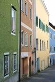 Casas em uma cidade pequena Fotografia de Stock