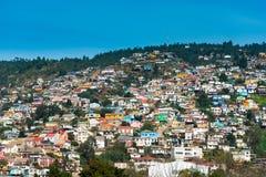 Casas em Valparaiso fotos de stock royalty free