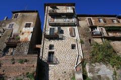 Casas em Zagarolo Fotografia de Stock Royalty Free