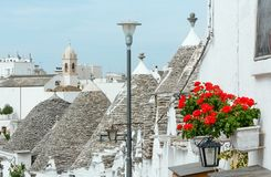 Casas en Alberobello, Italia de Trulli Fotografía de archivo libre de regalías