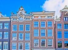 Casas en Amsterdam Fotografía de archivo libre de regalías