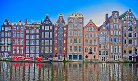 Casas en Amsterdam Imágenes de archivo libres de regalías