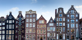 Casas en Amsterdam Foto de archivo libre de regalías