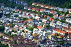Casas en Bergen imagen de archivo