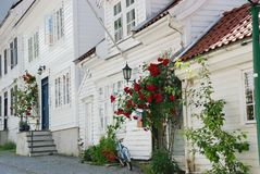 Casas en Bergen Foto de archivo