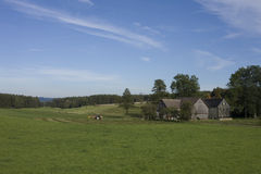 Casas en campo bávaro Fotos de archivo libres de regalías