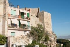 Casas en Castello foto de archivo