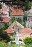 Casas en Cavtat, Dubrovnik fotos de archivo
