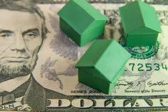 Casas en cinco dólares Imagen de archivo