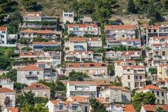 Casas en Dubrovnik Fotografía de archivo libre de regalías