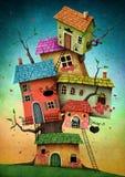 Casas en el árbol Imagen de archivo