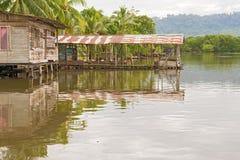 Casas en el agua en Almirante, Panamá Imagen de archivo