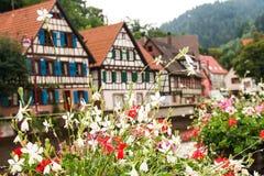 Casas en el bosque negro del schiltach, Alemania Fotos de archivo libres de regalías