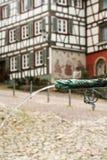 Casas en el bosque negro del schiltach, Alemania Fotografía de archivo