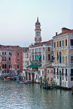 Casas en el canal grande Venecia Fotos de archivo libres de regalías