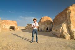 Casas en el Sáhara Imagenes de archivo