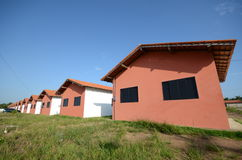 Casas en fila Imagen de archivo
