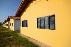 Casas en fila Fotografía de archivo