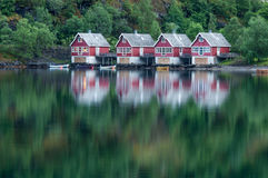 Casas en Flåm Foto de archivo libre de regalías