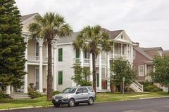 Casas en Galveston, Tejas Imágenes de archivo libres de regalías