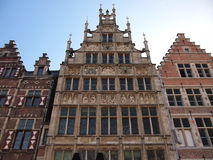 Casas en Graslei (Gante, Bélgica) Fotos de archivo libres de regalías
