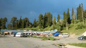 Casas en Gulmarg-Kashmir-3 Imágenes de archivo libres de regalías
