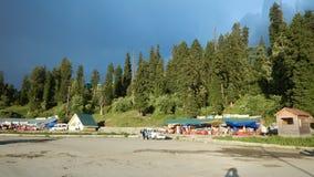 Casas en Gulmarg-Kashmir-5 Imagen de archivo libre de regalías