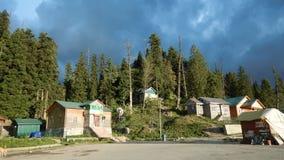 Casas en Gulmarg-Kashmir-6 Fotos de archivo libres de regalías