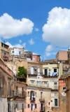 Casas en Ibla, Italia Imágenes de archivo libres de regalías