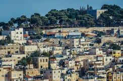 Casas en Jerusalén Imágenes de archivo libres de regalías