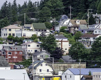 Casas en Ketchikan, Alaska 2 Fotografía de archivo libre de regalías