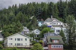 Casas en Ketchikan, Alaska Foto de archivo libre de regalías