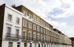 Casas en Knightsbridge Londres Imagen de archivo libre de regalías
