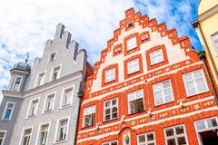 Casas en la ciudad de Landshut Fotos de archivo