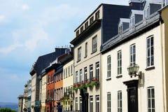 Casas en la ciudad de Quebec vieja Fotografía de archivo libre de regalías