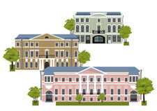 Casas en la ciudad vieja Foto de archivo