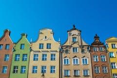 Casas en la ciudad vieja de Gdansk Imagen de archivo libre de regalías