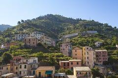 Casas en la colina Imagen de archivo libre de regalías