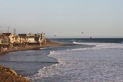 Casas en la costa Imagen de archivo libre de regalías