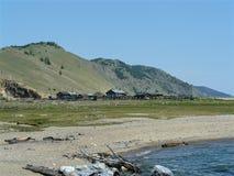 Casas en la costa fotografía de archivo libre de regalías