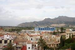 Casas en la costa de Orihuela, España Foto de archivo libre de regalías