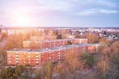 Casas en la vecindad suburbana, Alemania imagen de archivo