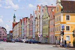 Casas en Landshut Imagenes de archivo