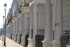 Casas en Londres central Reino Unido Imágenes de archivo libres de regalías