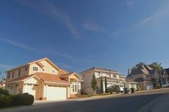 Casas en los suburbios Fotografía de archivo libre de regalías