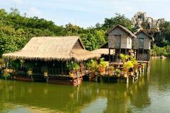 Casas en los zancos, Camboya Fotografía de archivo